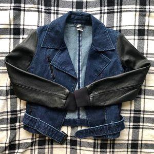 Nike Denim and Leather Selvedge Moto Jacket